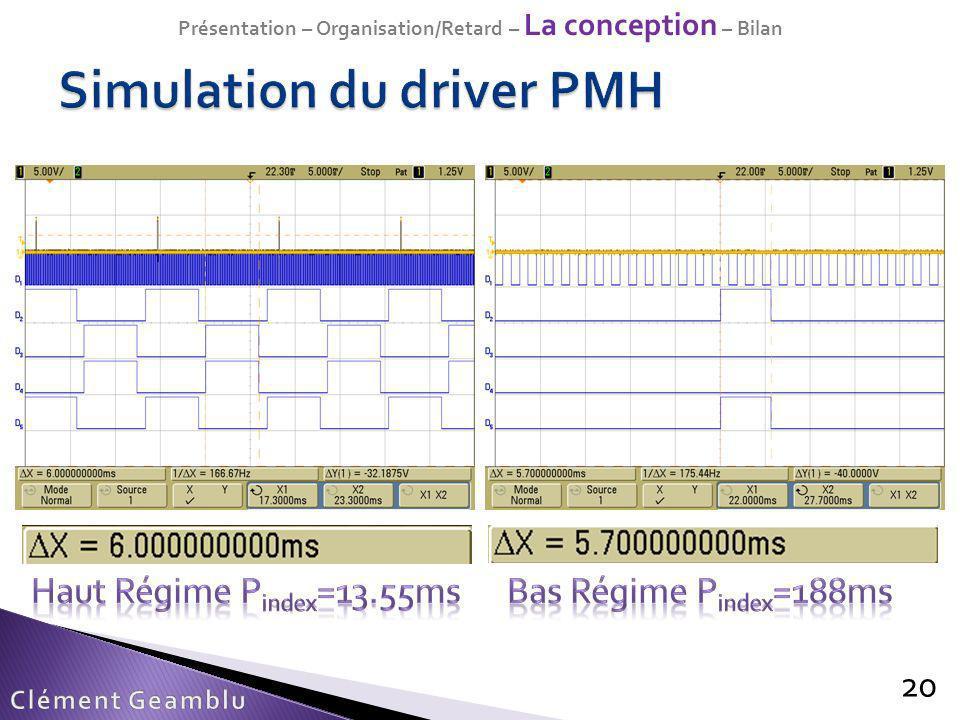 Simulation du driver PMH