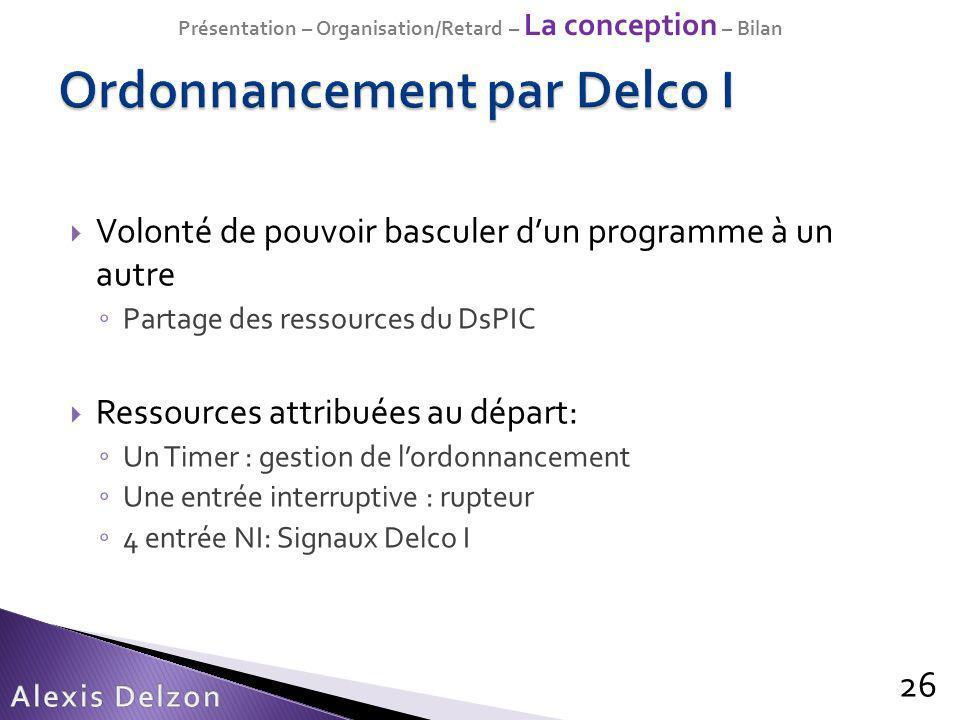 Ordonnancement par Delco I