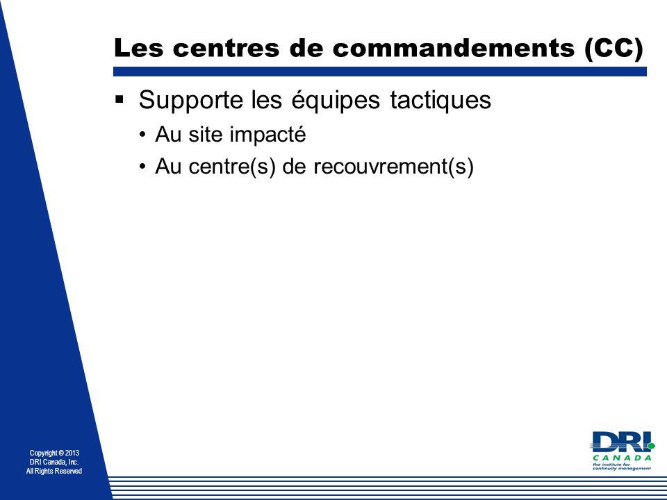 Les centres de commandements (CC)
