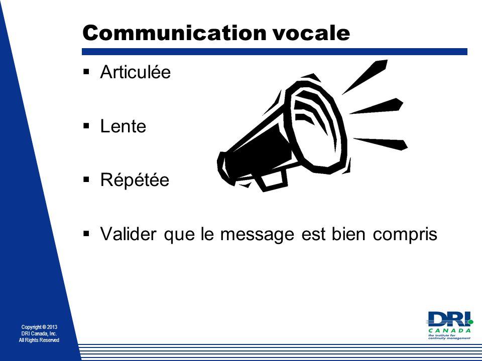 Communication vocale Articulée Lente Répétée