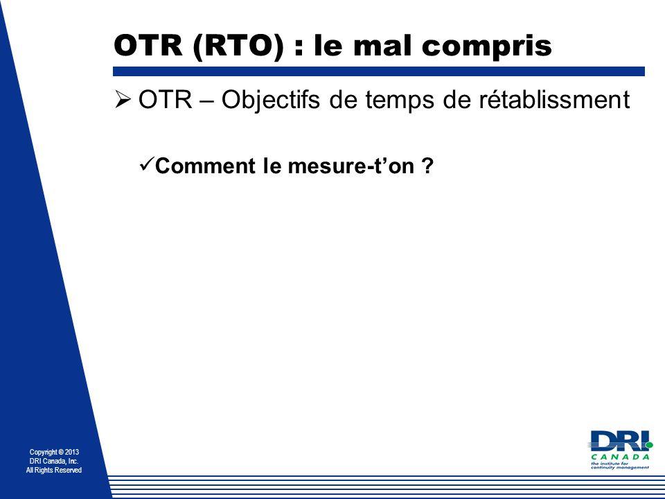 OTR (RTO) : le mal compris