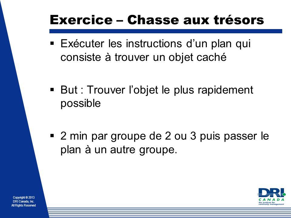 Exercice – Chasse aux trésors