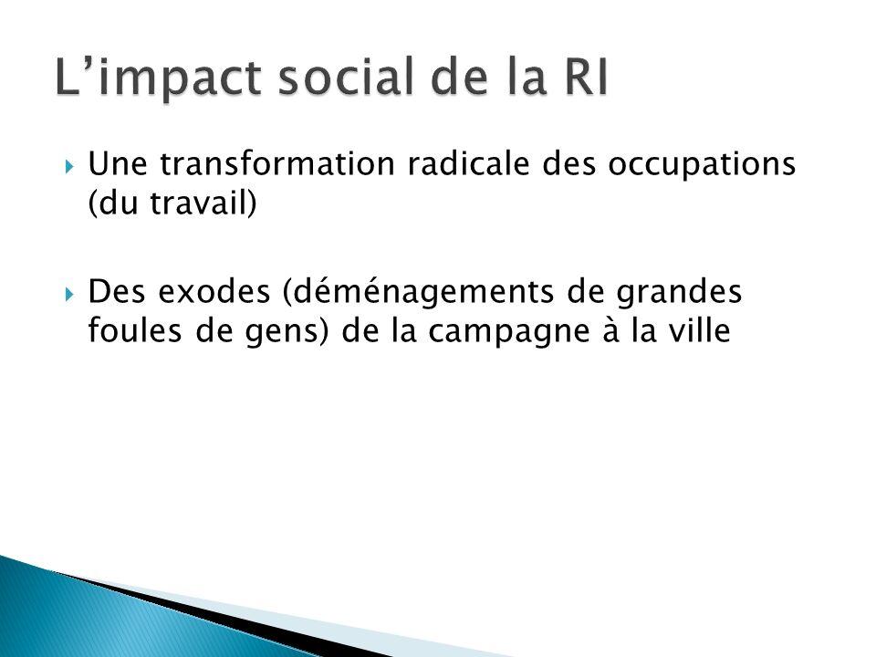 L'impact social de la RI