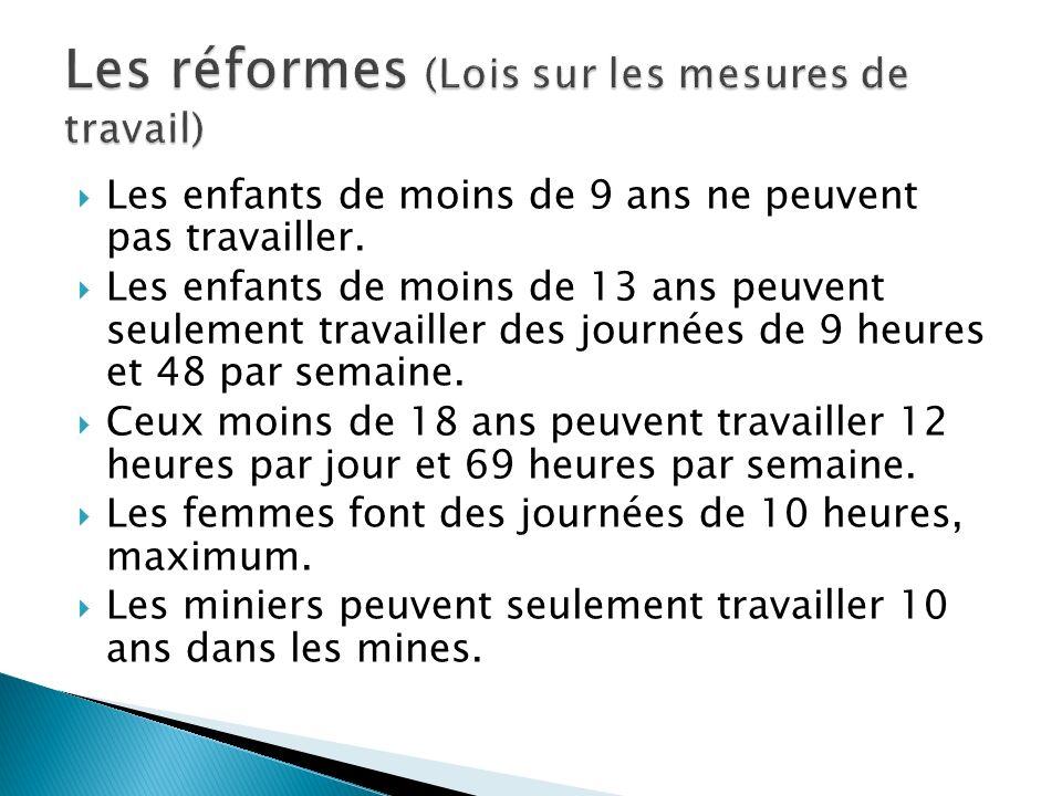 Les réformes (Lois sur les mesures de travail)