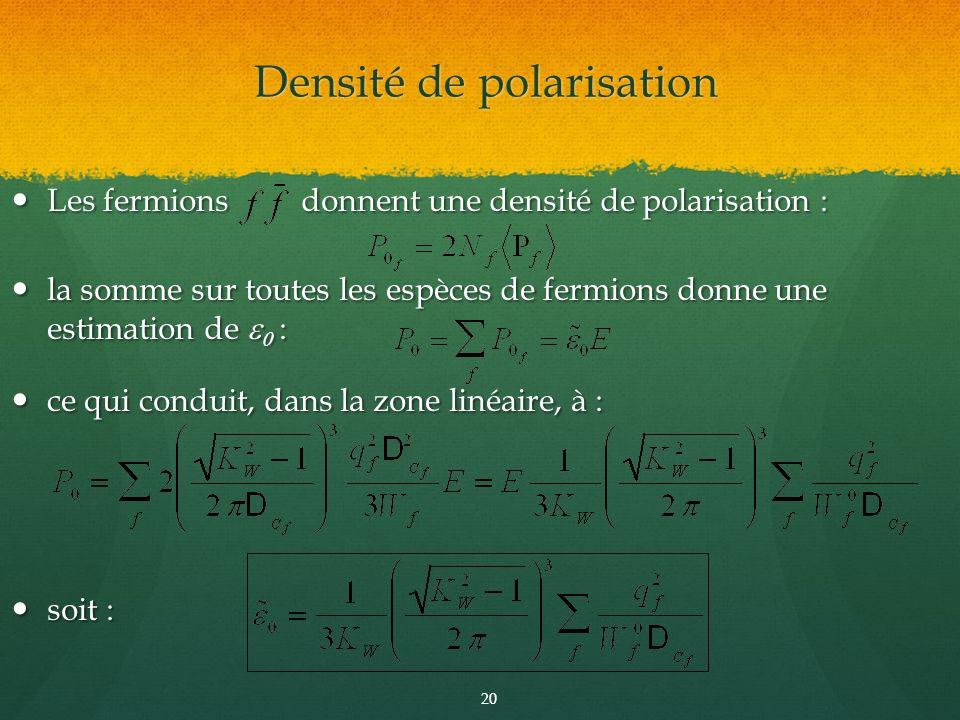 Densité de polarisation