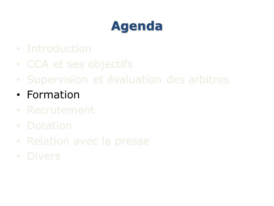 Agenda Introduction CCA et ses objectifs