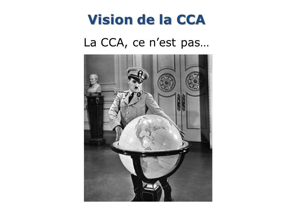 Vision de la CCA La CCA, ce n'est pas…