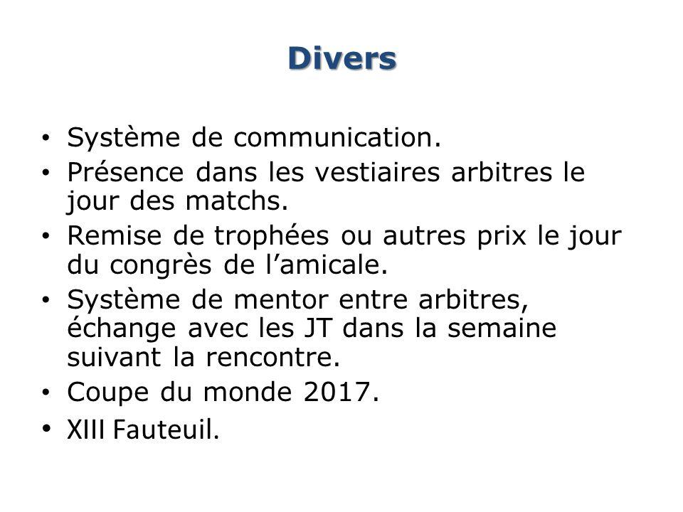 Divers XIII Fauteuil. Système de communication.