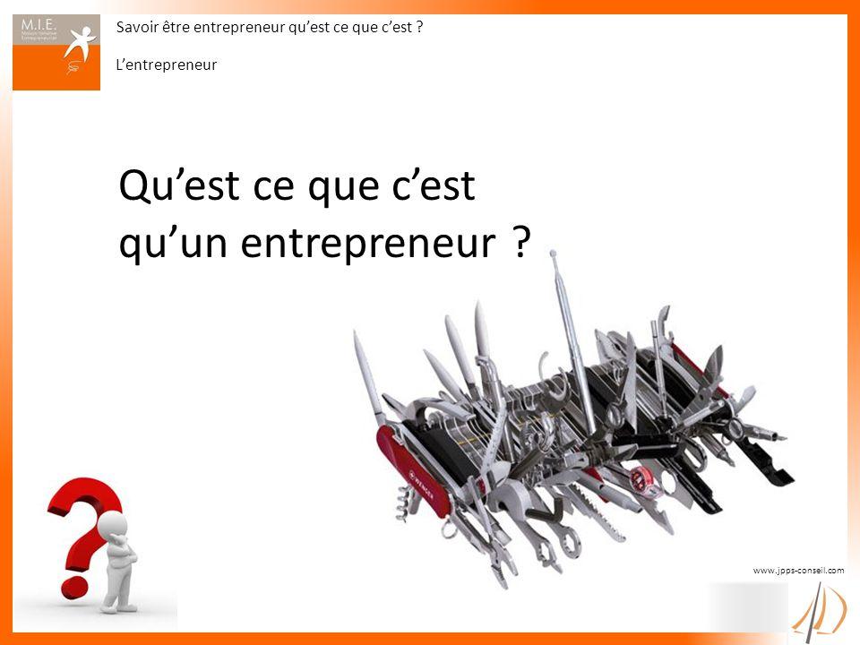 Qu'est ce que c'est qu'un entrepreneur