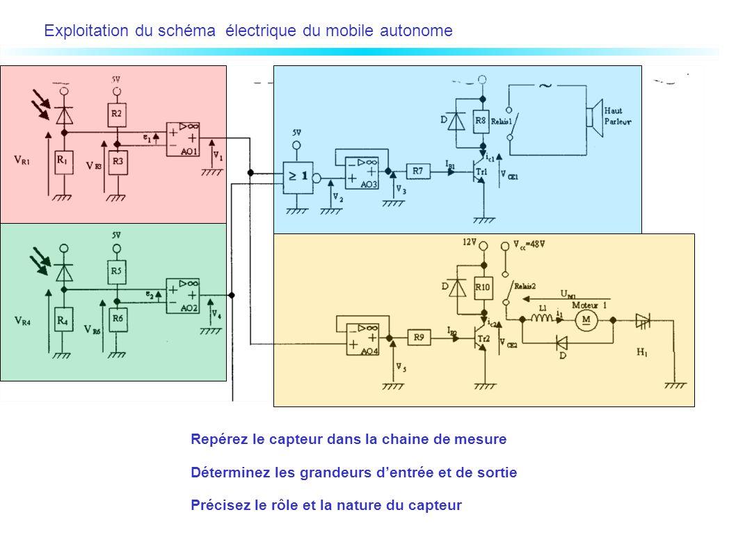 Exploitation du schéma électrique du mobile autonome