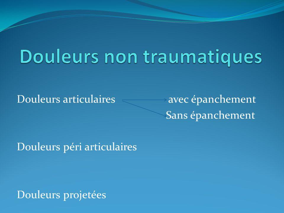 Douleurs non traumatiques