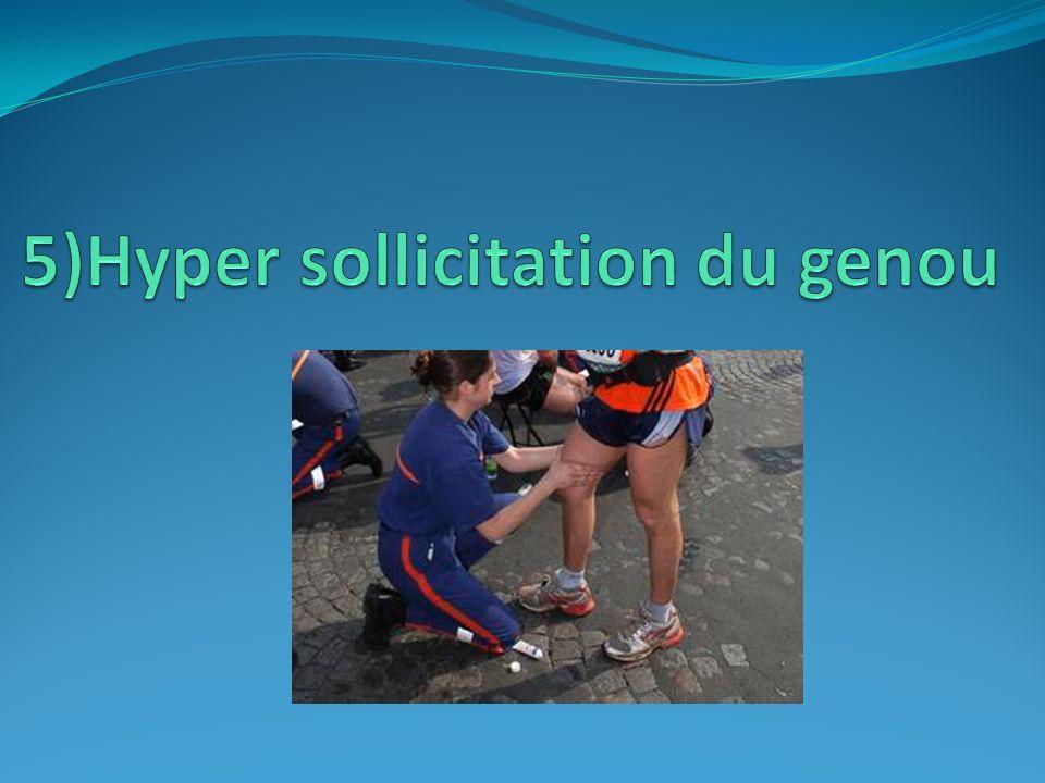 5)Hyper sollicitation du genou