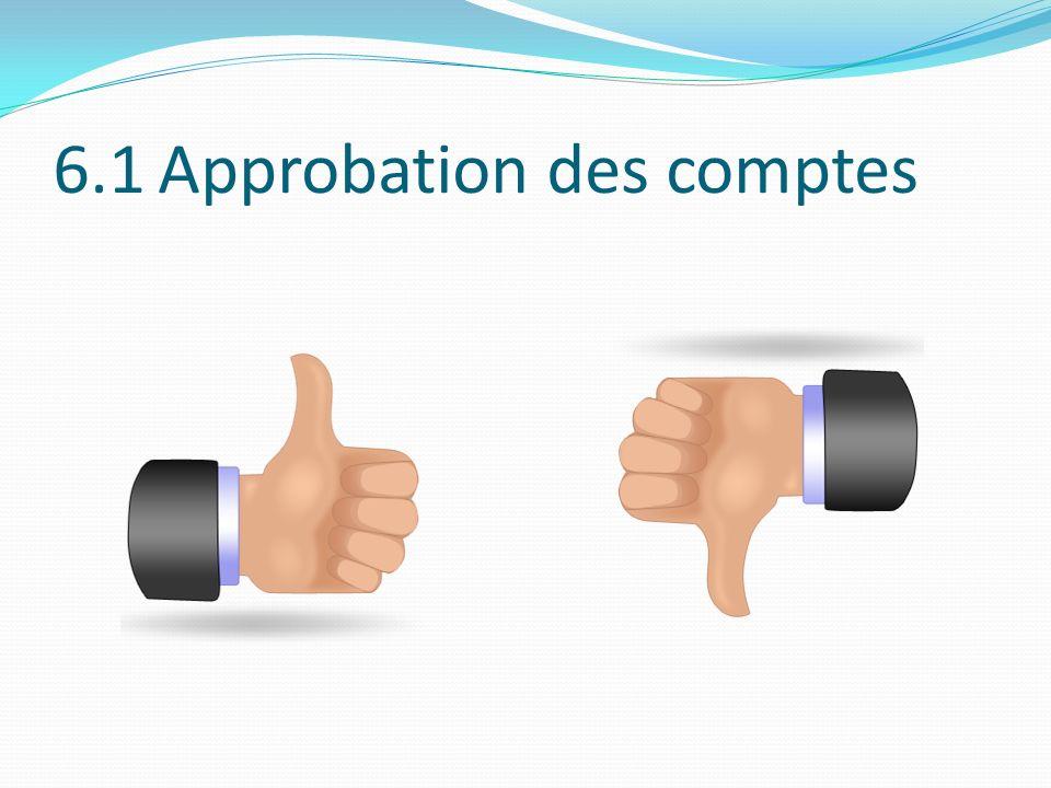 6.1 Approbation des comptes