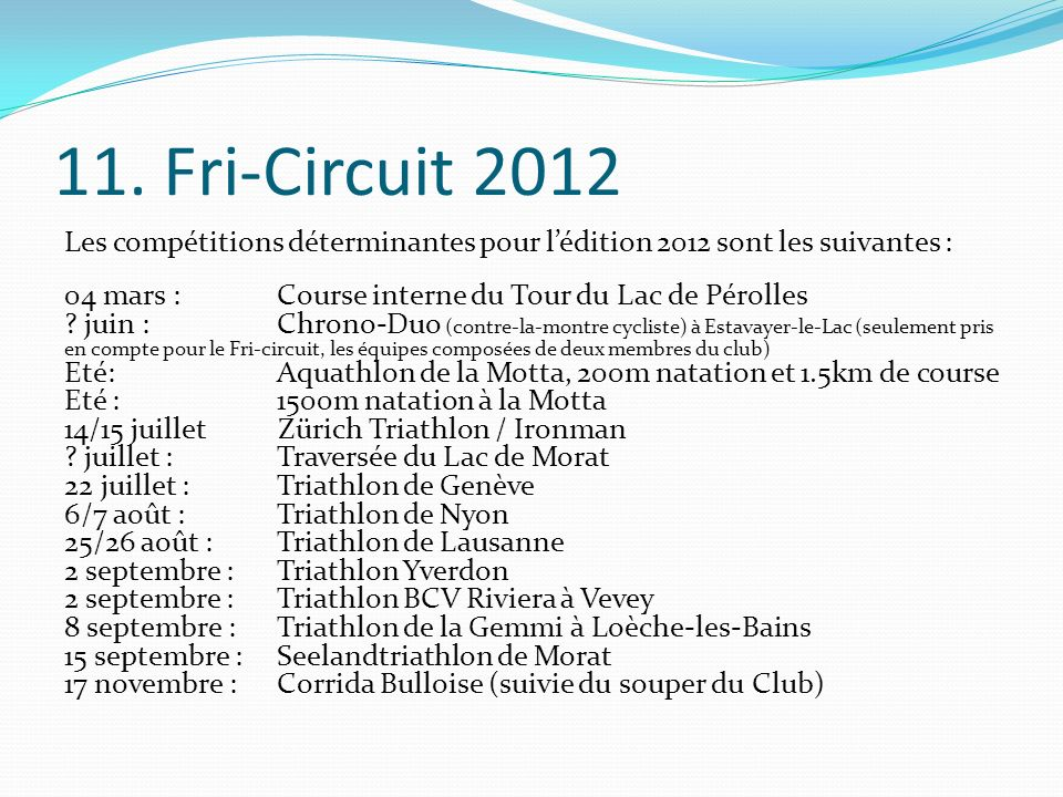 11. Fri-Circuit 2012