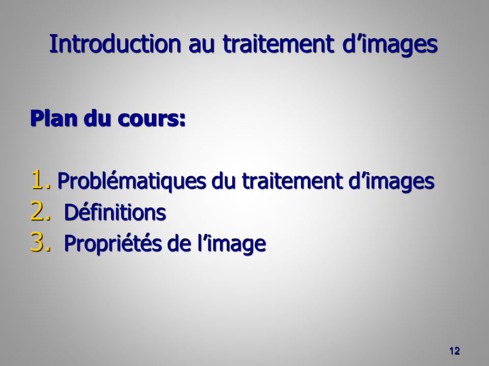 Introduction au traitement d'images