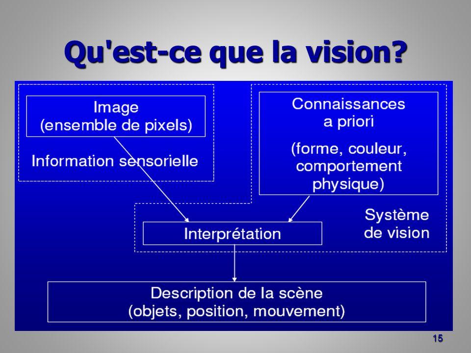 Qu est-ce que la vision