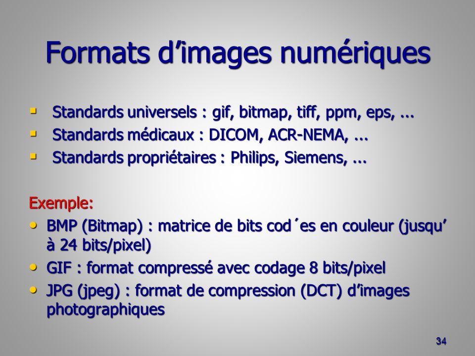 Formats d'images numériques