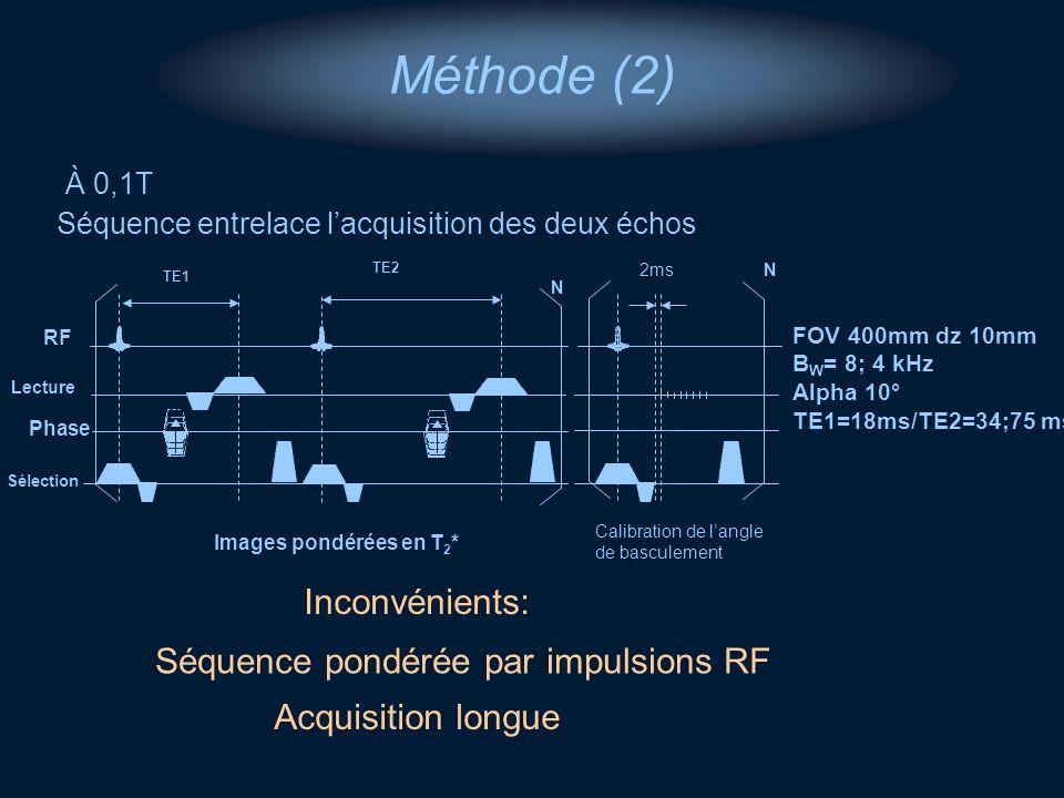 Séquence pondérée par impulsions RF