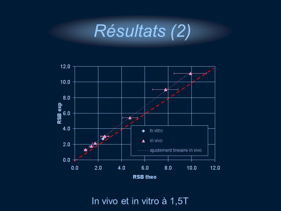 Résultats (2) In vivo et in vitro à 1,5T