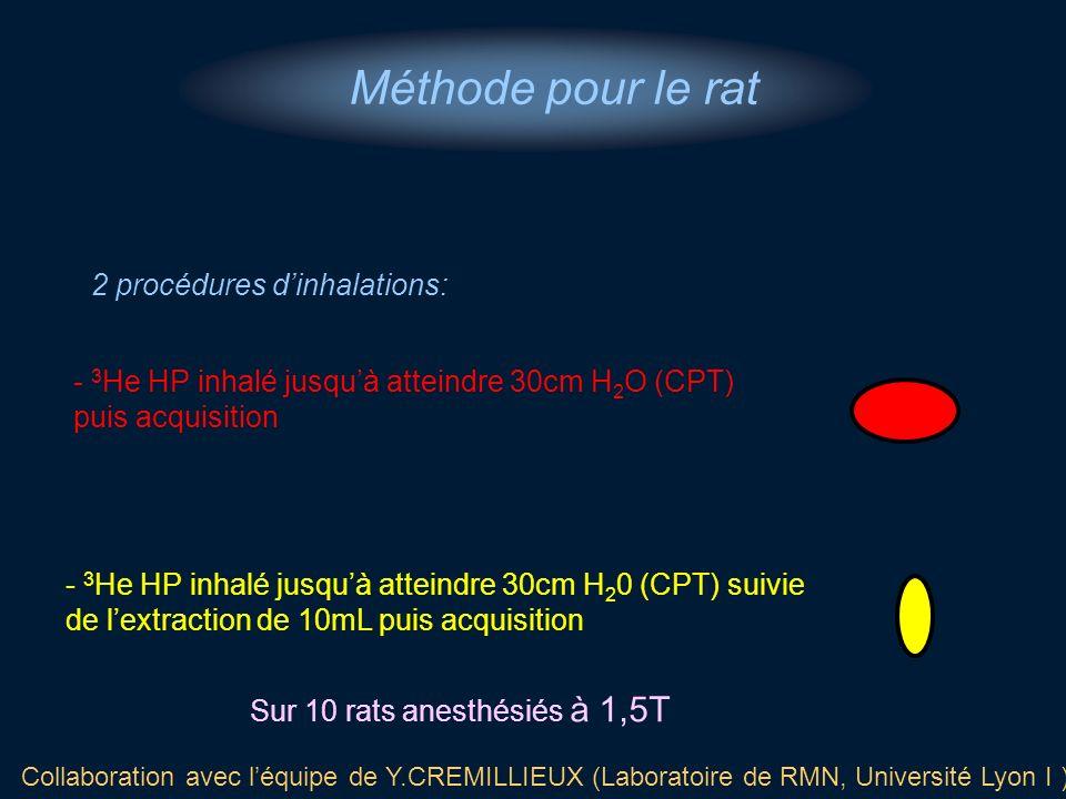 Méthode pour le rat 2 procédures d'inhalations: