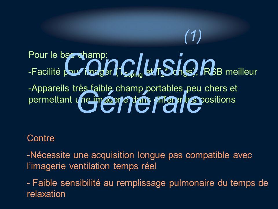 Conclusion Générale (1) Pour le bas champ: