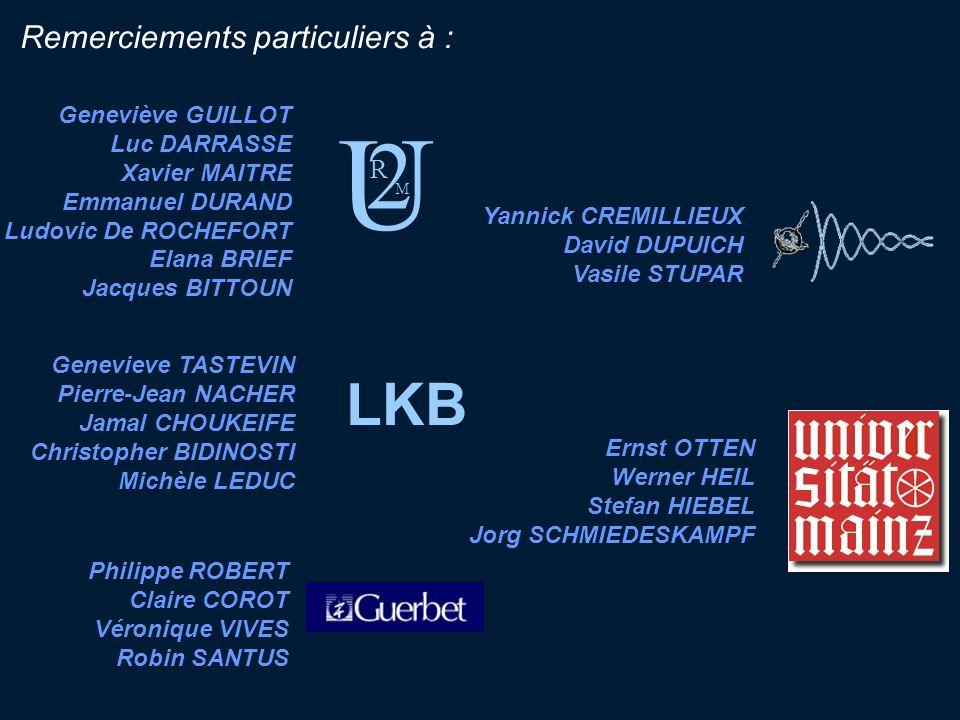 U 2 LKB Remerciements particuliers à : R Geneviève GUILLOT