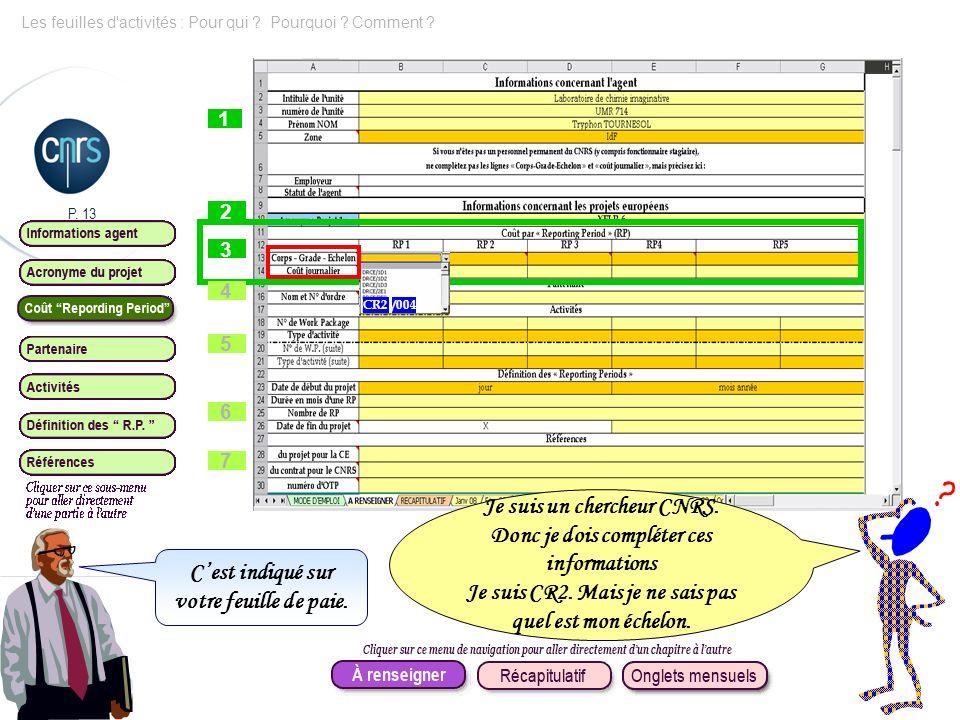 Je suis un chercheur CNRS. Donc je dois compléter ces informations