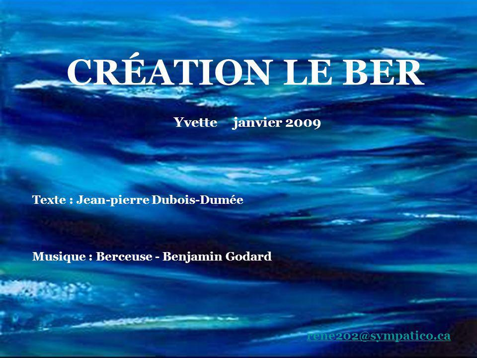 Texte : Jean-pierre Dubois-Dumée Musique : Berceuse - Benjamin Godard