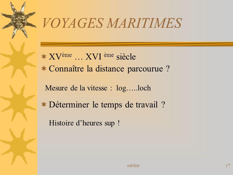 VOYAGES MARITIMES XVème … XVI ème siècle