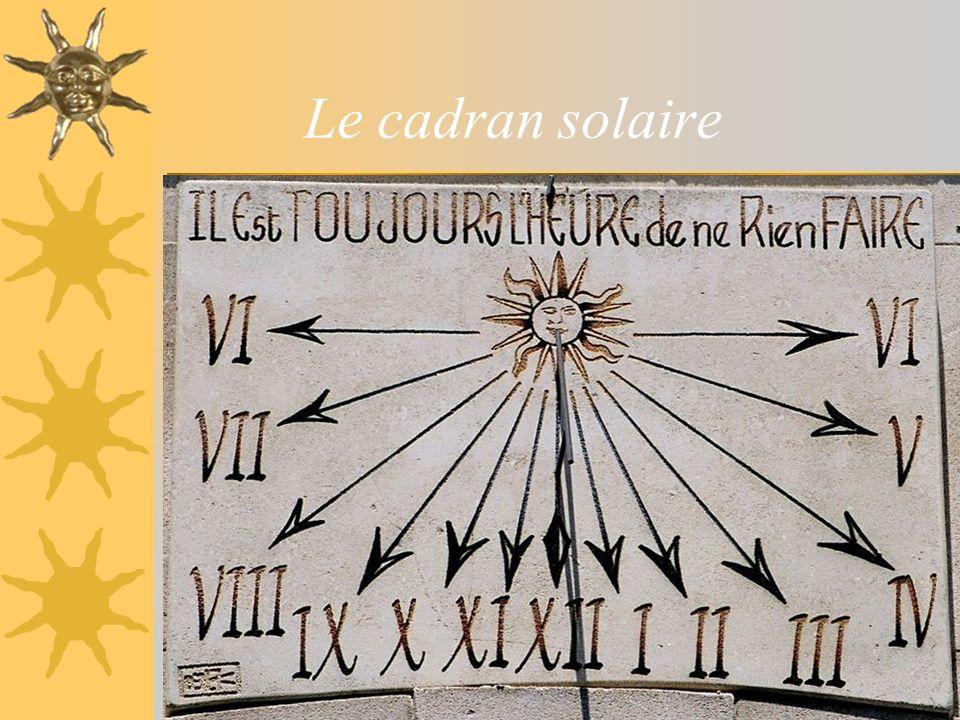 Le cadran solaire sablier