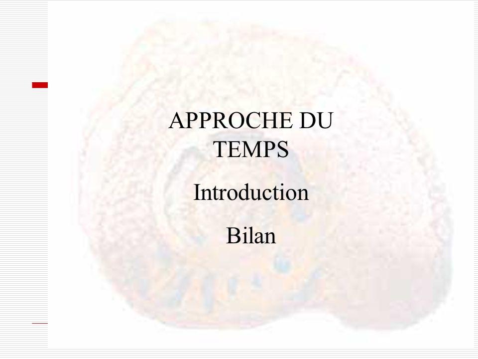 APPROCHE DU TEMPS Introduction Bilan