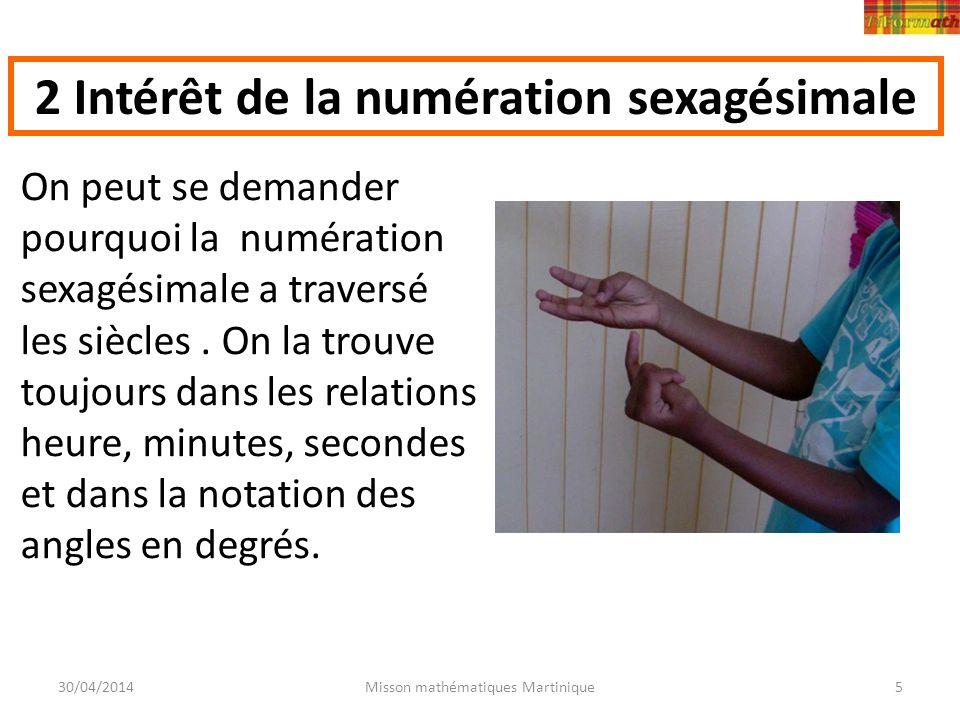 2 Intérêt de la numération sexagésimale