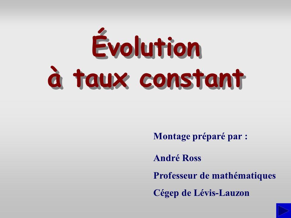 Évolution à taux constant