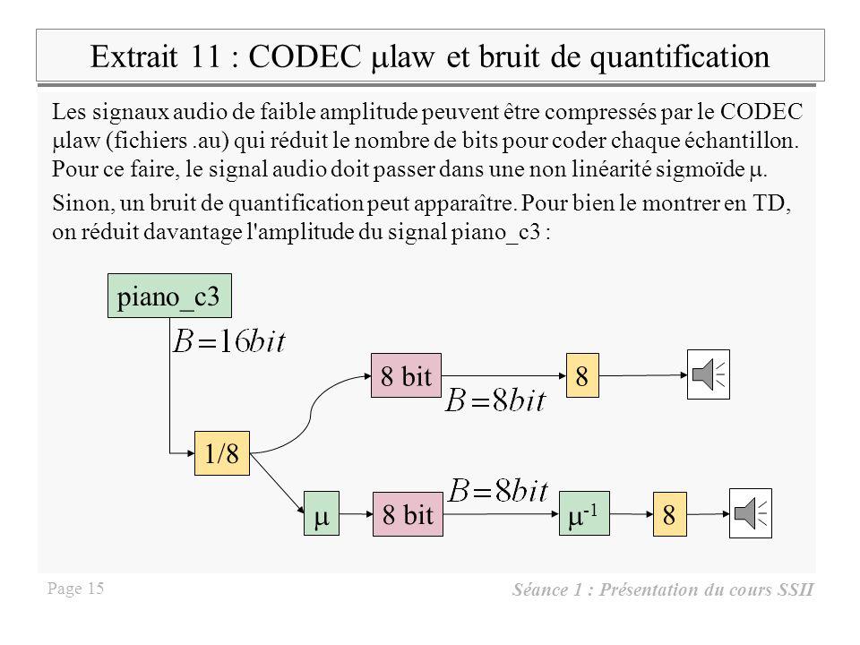 Extrait 11 : CODEC mlaw et bruit de quantification