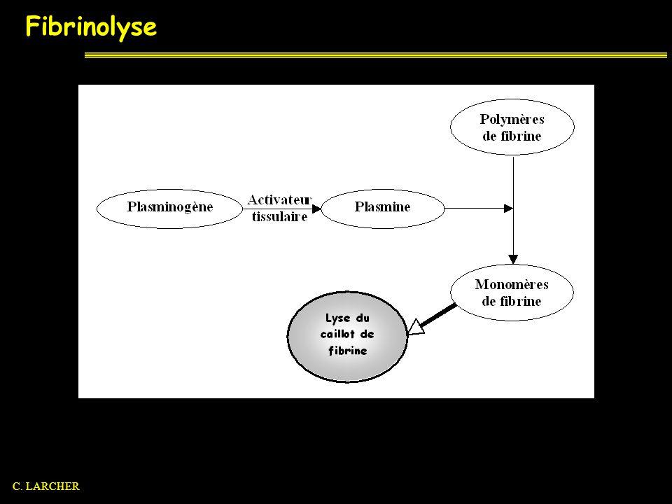 Fibrinolyse C. LARCHER
