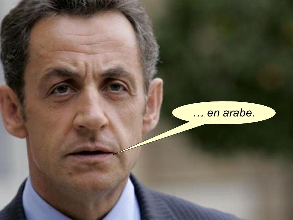 … en arabe.