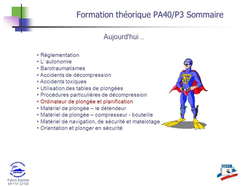 Formation théorique PA40/P3 Sommaire