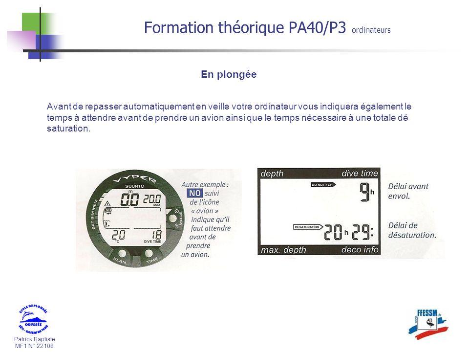 Formation théorique PA40/P3 ordinateurs