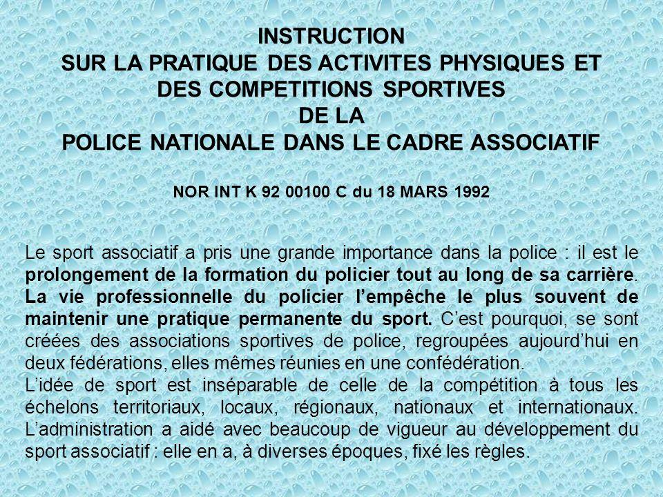 SUR LA PRATIQUE DES ACTIVITES PHYSIQUES ET DES COMPETITIONS SPORTIVES