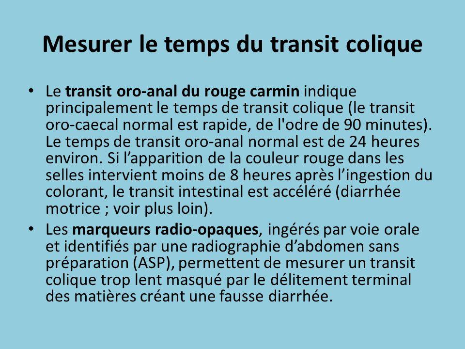 Mesurer le temps du transit colique