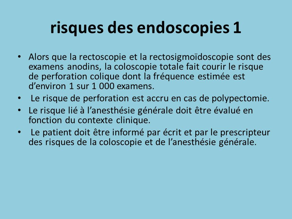 risques des endoscopies 1