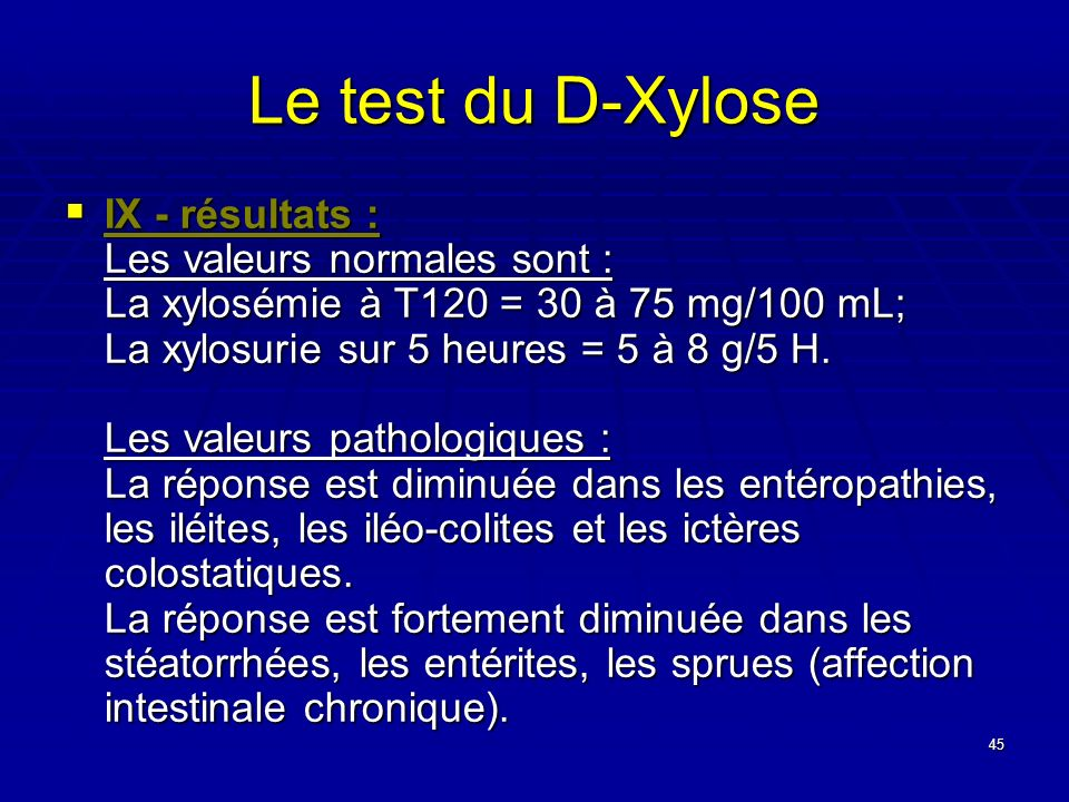 Le test du D-Xylose