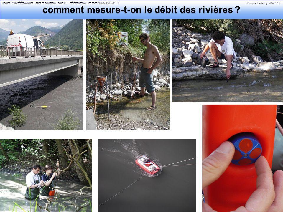 comment mesure-t-on le débit des rivières