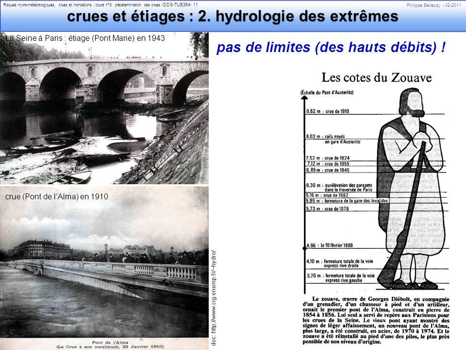 crues et étiages : 2. hydrologie des extrêmes