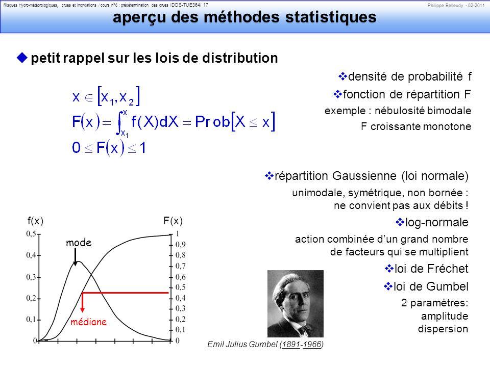 aperçu des méthodes statistiques