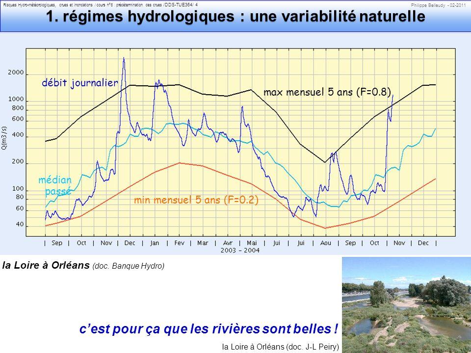 1. régimes hydrologiques : une variabilité naturelle