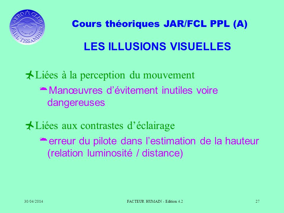 LES ILLUSIONS VISUELLES