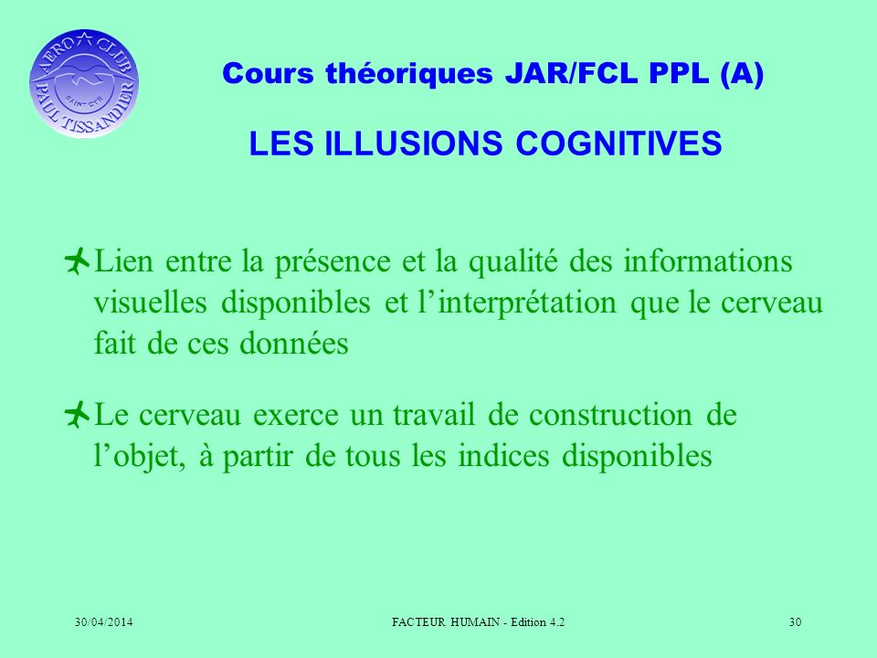 LES ILLUSIONS COGNITIVES
