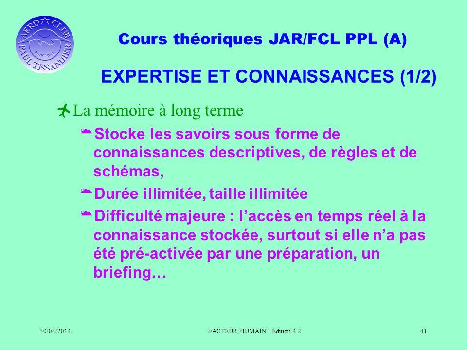 EXPERTISE ET CONNAISSANCES (1/2)