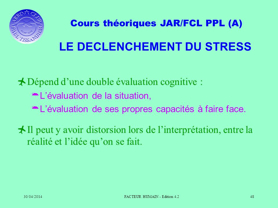 LE DECLENCHEMENT DU STRESS